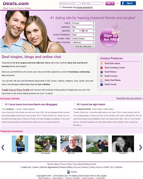 free deaf dating site uk Join our deaf dating club and find out how much fun our uk based hearing don't miss out on that potential hot date, deaf dating club it is all just a click away and you can gain access to those profiles if you register at our site for free.